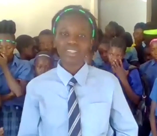 Picture of Zambian ALMs charity student in final high school years, dreaming of university opportunities